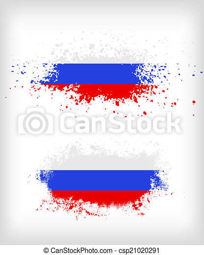 russische , grunge, splattered, vlag, inkt - csp21020291