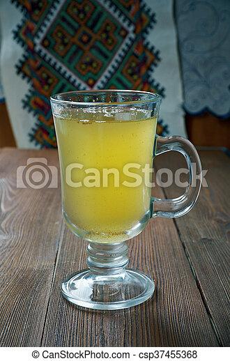 Russische, honig, getränk- wasser. Honig, gemacht, getränk ...