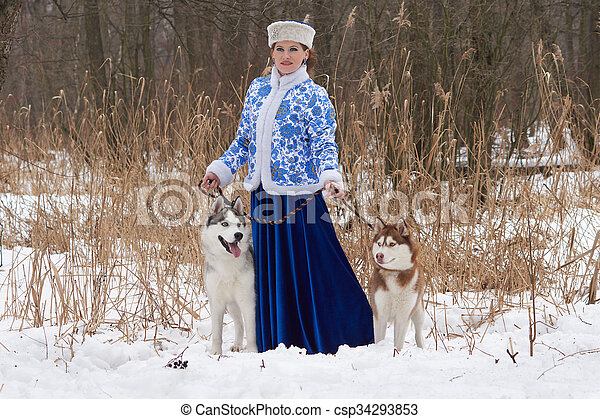 russische schlittenhunde