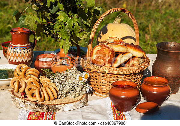 russo, tavola, cibo - csp40367908
