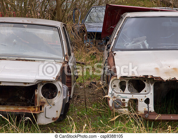rusted carwrecks - csp9388105