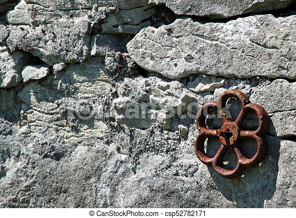 Rusted iron flower - csp52782171