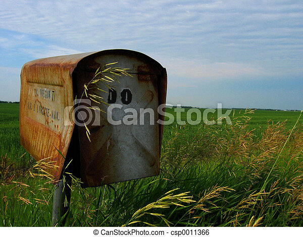 rusted mail box - csp0011366