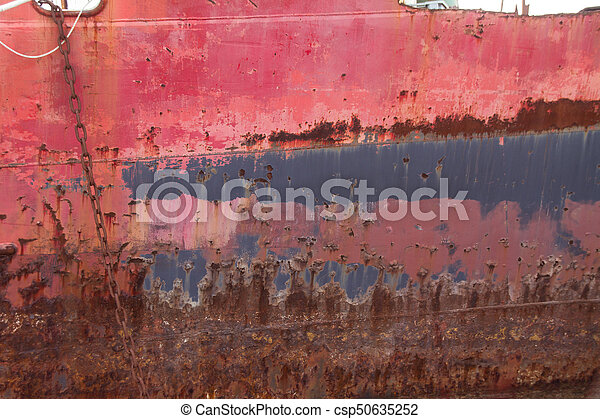 Rusted Shipwreck - csp50635252