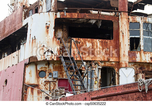 Rusted Shipwreck - csp50635222