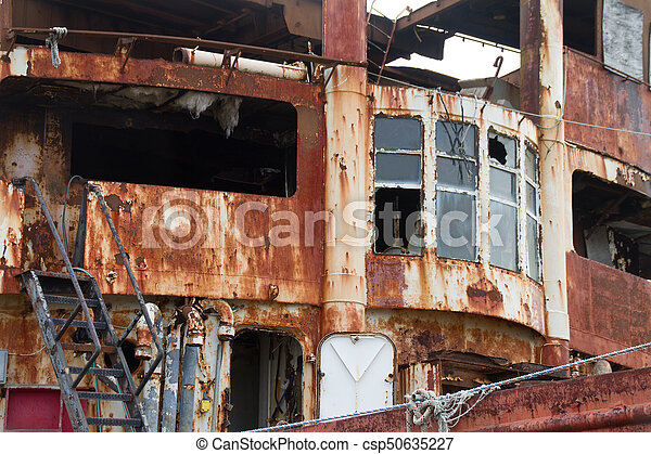 Rusted Shipwreck - csp50635227