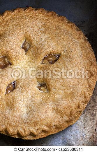 Rustic Apple Pie - csp23680311