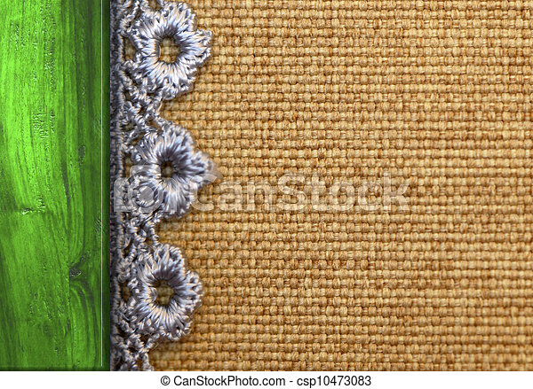 Rustic Background Burlap Wood And Lace