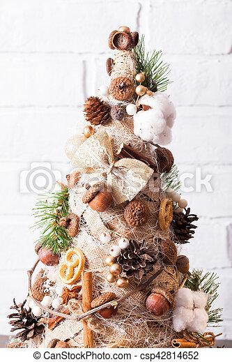 Christmas Topiary.Rustic Christmas Topiary