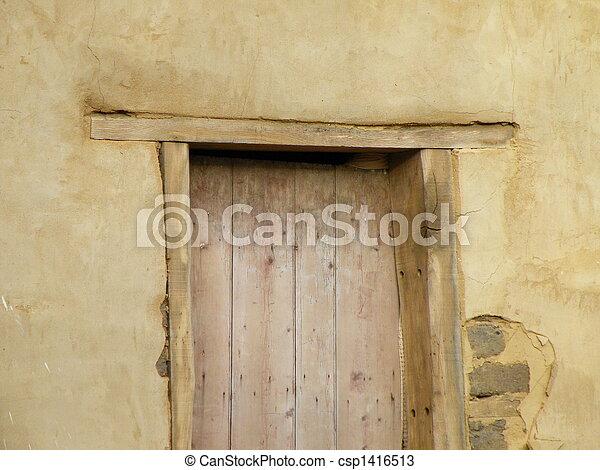Rustic doorframe.