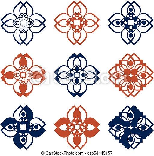 Rustic folk pattern - csp54145157