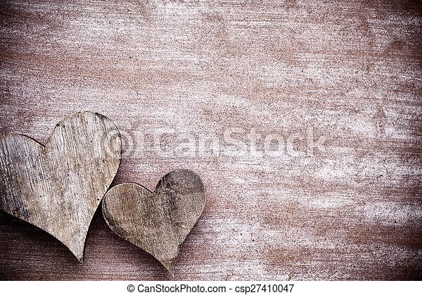 rustic, heart. - csp27410047