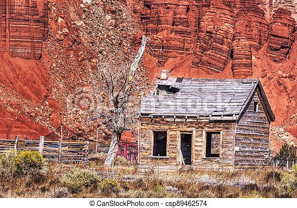 Rustic Homestead in the Desert - csp89462574