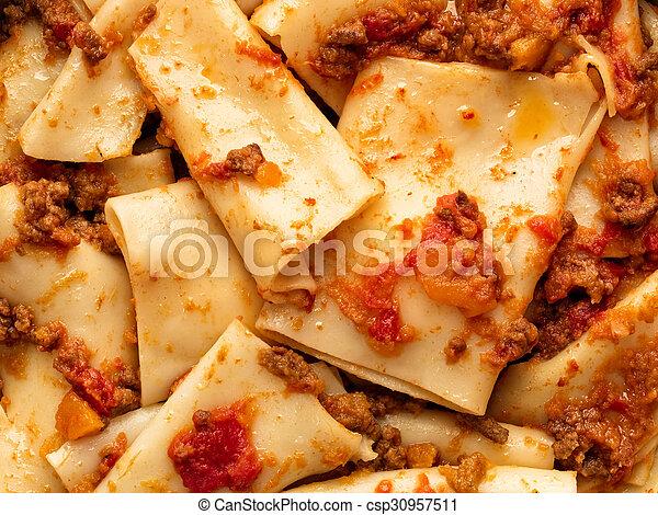 Rustic Italian Pasta In Ragu Sauce