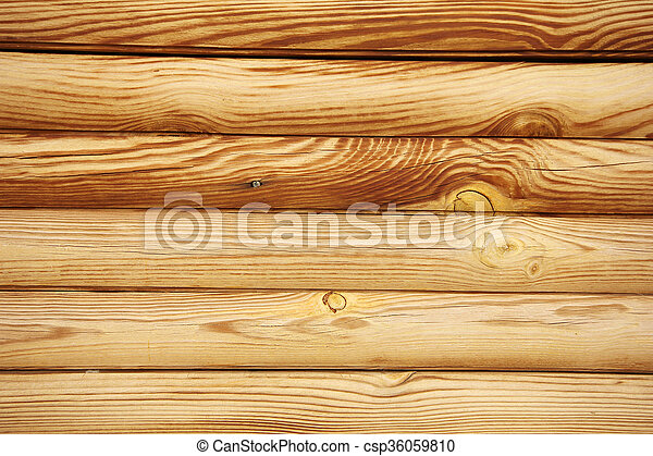 Rustic Log Cabin Wall Canstock