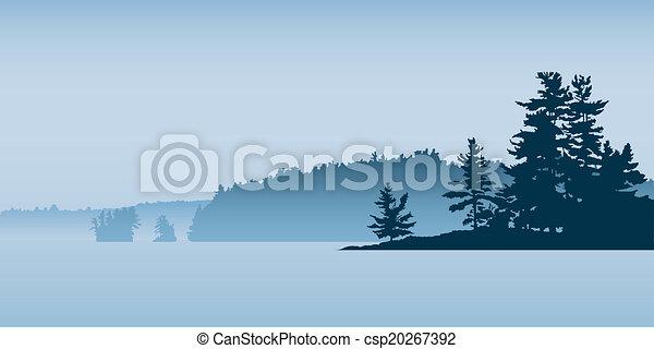 Rustic Northern Lake - csp20267392