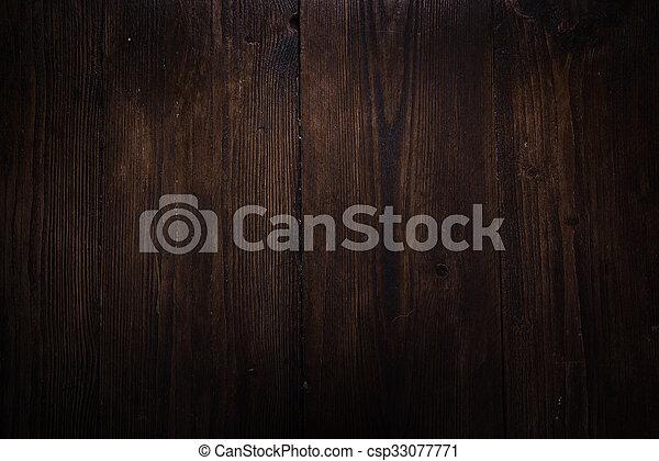Rustic oak wood background - csp33077771