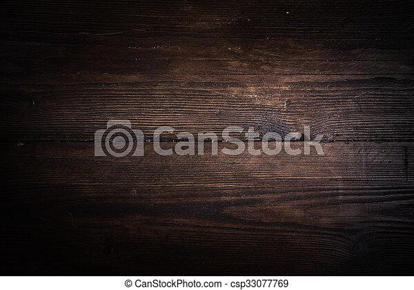 Rustic oak wood background - csp33077769