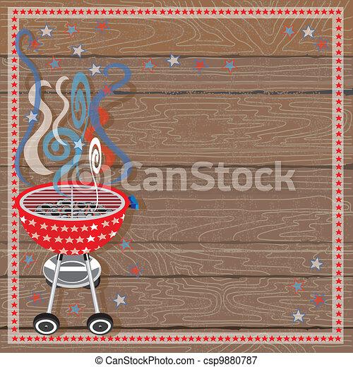 Rustic Patriotic BBQ Party - csp9880787