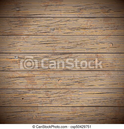Rustic Wood Planks Vintage Background Vector Illustration