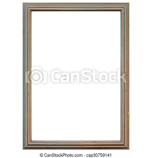 Rustic wooden frame - csp30759141