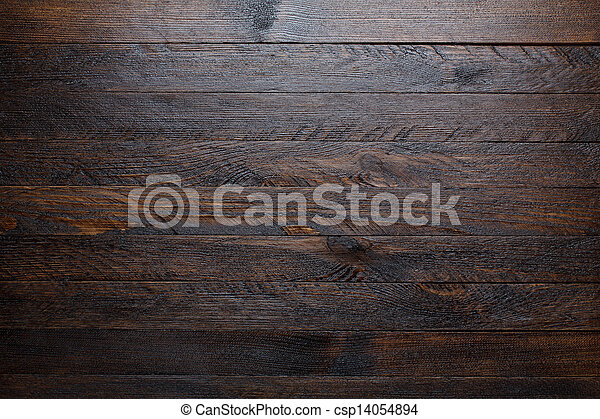 Rustic wooden table background top view - csp14054894