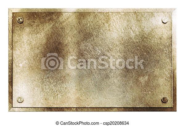 rustico, ottone, metallo, struttura, segno - csp20208634