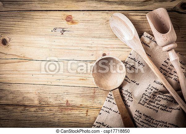rustico, utensili, cottura, ricetta - csp17718850