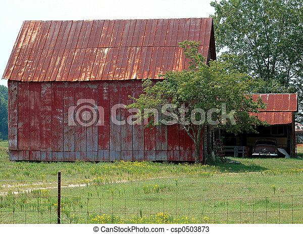 rustik, skjul, ladugård - csp0503873