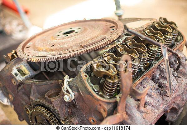 Rusty automotive engine - csp11618174