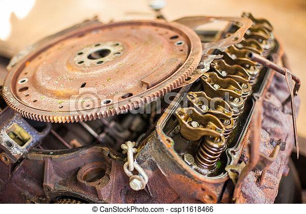 Rusty automotive engine - csp11618466