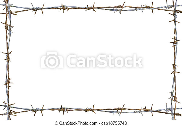 barbed wire fence drawing. rusty barbed wire - csp18755743 fence drawing