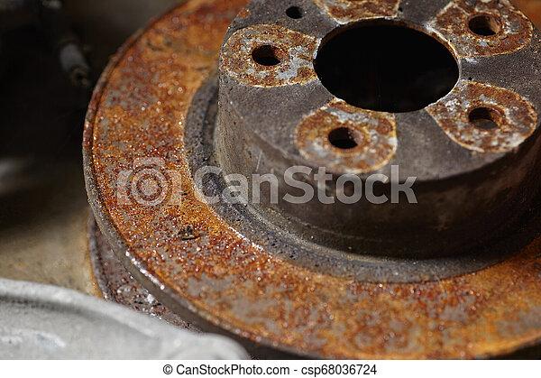 Rusty brake discs - csp68036724