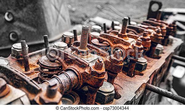Rusty diesel engine - csp73004344