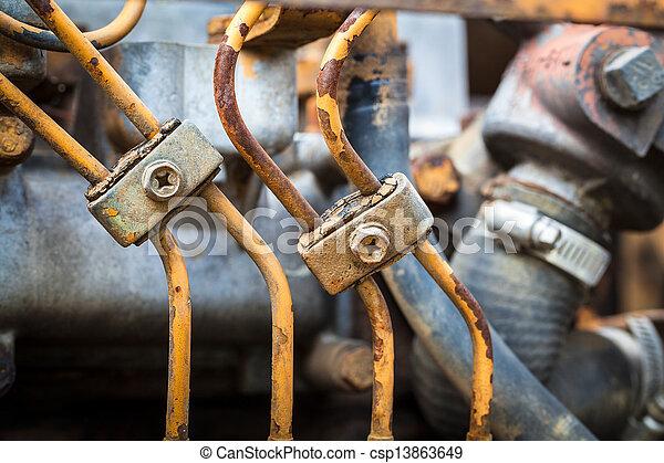 Rusty engine parts - csp13863649