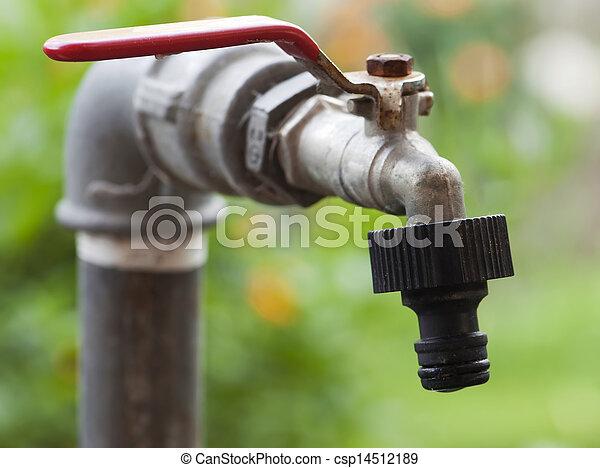 Rusty Garden Faucet   Csp14512189