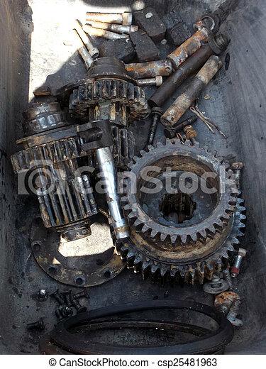 Rusty gears - csp25481963
