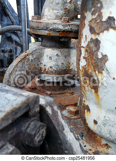 Rusty gears - csp25481956