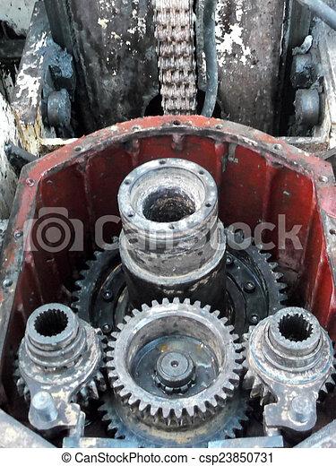 rusty industrial engine - csp23850731