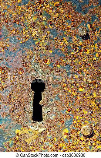 Rusty key-hole - csp3606930