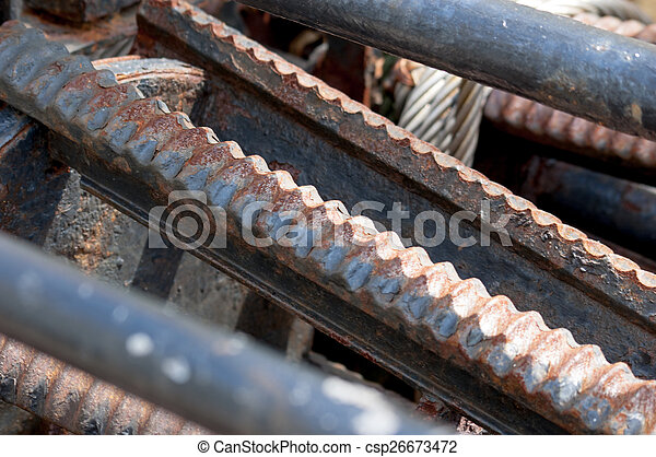Rusty metal abstract engine - csp26673472