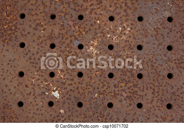 Rusty Metal Grate - csp10071702