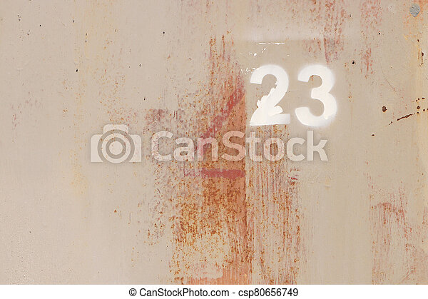 Rusty Painted Wall Texture. Number 23. - csp80656749