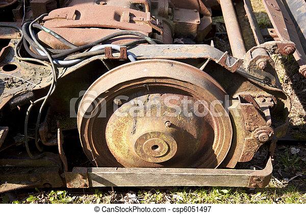 Rusty steel wheels - csp6051497