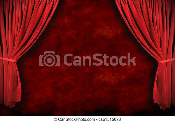rusztowanie, drapuje, dramatyczny, teatr, oświetlenie - csp1515073