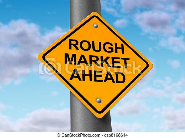 ruvido, mercato, avanti - csp8168614