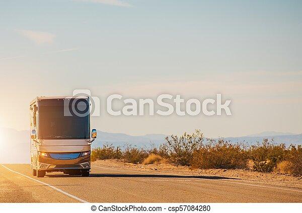 RV Motorcoach Road Trip - csp57084280
