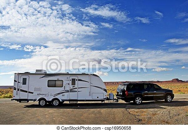 RV Trailer Journey - csp16950658