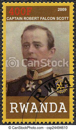 RWANDA - 2009: shows portrait of Captain Robert Falcon Scott (18 - csp24494610