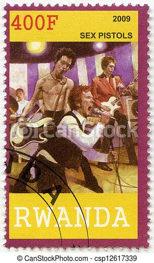 RWANDA - 2009: shows Sex Pistols - csp12617339